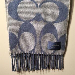 Coach signature winter scarf wool cashmere